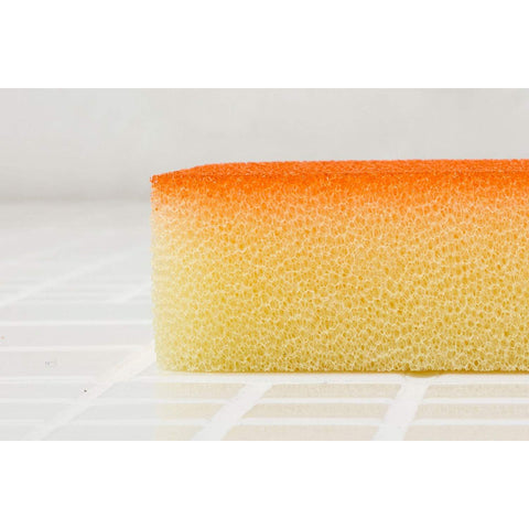 Image of Kamenoko Bath Japanese Sponge Do (Orange) 2 pieces 亀の子 バススポンジ Do バス洗い オレンジ Kitchen Tokyo Direct