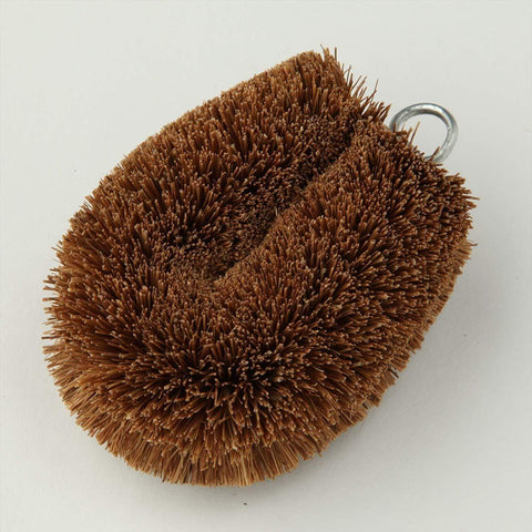 Image of Kamenoko Scrubbing Brush Mini (Tawashi) 2 pieces 亀の子 掃除用たわし パームチビッコP Kitchen Tokyo Direct