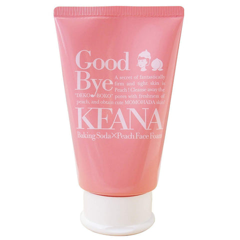 Image of Keana Nadeshiko Fresh Peach Baking Soda Face Foam 毛穴撫子 桃まるかじり重曹泡洗顔 Life Tokyo Direct