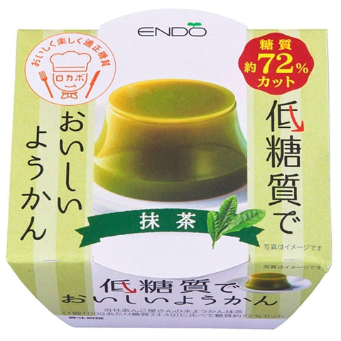 Image of Low-Carb Yokan (Matcha) 6pcs 低糖質ようかん 抹茶 6個 Sweets Tokyo Direct