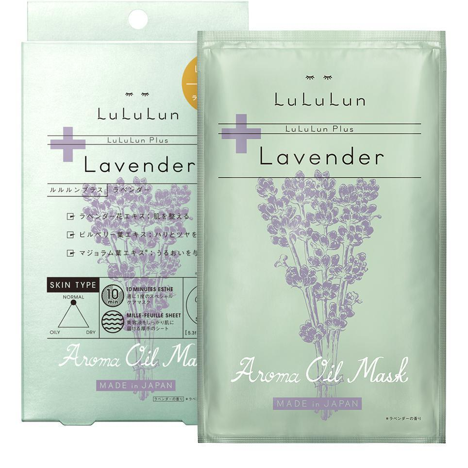 LuLuLun Plus Facial Mask (Lavender) 5 sheets ルルルンプラス ラベンダー5包入 Life Tokyo Direct