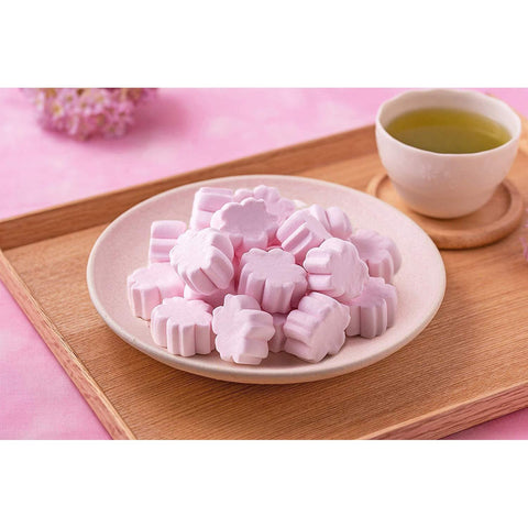 Image of Meiji-ya Sakura Marshmallow (limited Edition) 5pcs 明治屋 春期限定さくらマシュマロ 5個 Sweets Tokyo Direct