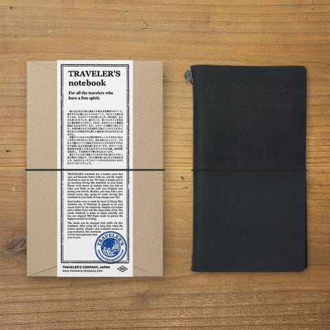 Midori Traveller's Notebook (Black) Stationary Tokyo Direct