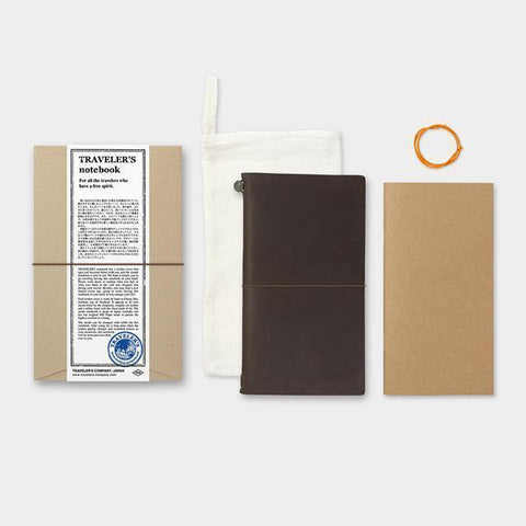 Image of Midori Traveller's Notebook (Brown) Stationary Tokyo Direct