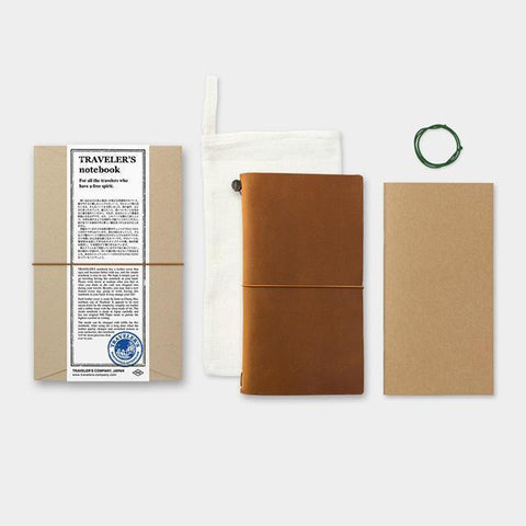 Image of Midori Traveller's Notebook (Camel) Stationary Tokyo Direct