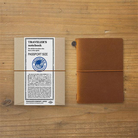 Image of Midori Traveller's Notebook Passport Size (Brown) Stationary Tokyo Direct