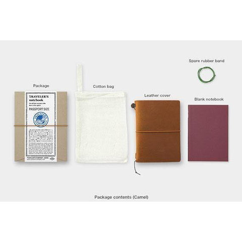 Image of Midori Traveller's Notebook Passport Size (Camel) Stationary Tokyo Direct