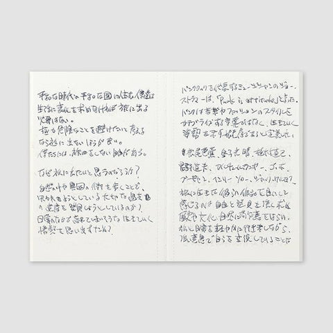 Image of Midori Traveller's Notebook Passport Size Refill (light paper) Stationary Tokyo Direct