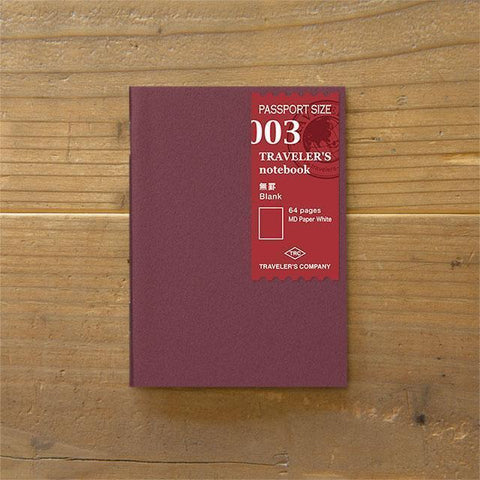 Image of Midori Traveller's Notebook Passport Size Refill (no line) Stationary Tokyo Direct