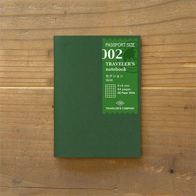 Midori Traveller's Notebook Passport Size Refill (section) Stationary Tokyo Direct