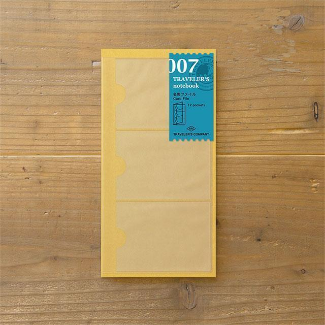 Midori Traveller's Notebook  Refill (Business Card File) Stationary Tokyo Direct