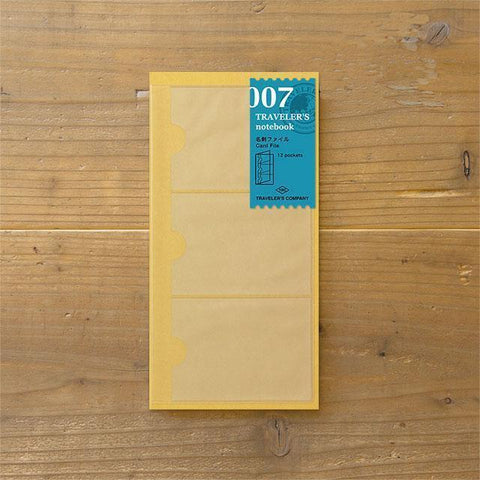 Image of Midori Traveller's Notebook  Refill (Business Card File) Stationary Tokyo Direct