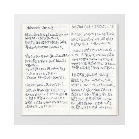 Image of Midori Traveller's Notebook Refill (light paper) Stationary Tokyo Direct
