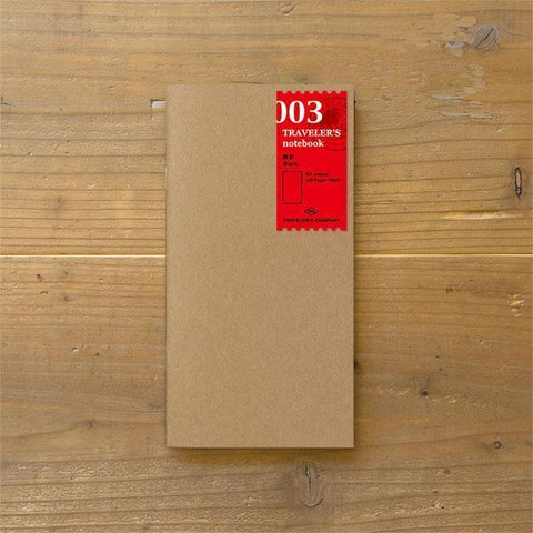 Midori Traveller's Notebook refill (no line) Stationary Tokyo Direct