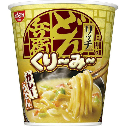 Nissin Donbei Creamy Rich Curry Udon 12pcs 日清のどん兵衛 くり~み~リッチ カレーうどん 12個 Food Tokyo Direct