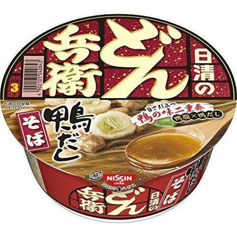 Image of Nissin Donbei Kamodashi (Duck broth) 12pcs 日清 どん兵衛 鴨だしそば 12個 Food Tokyo Direct