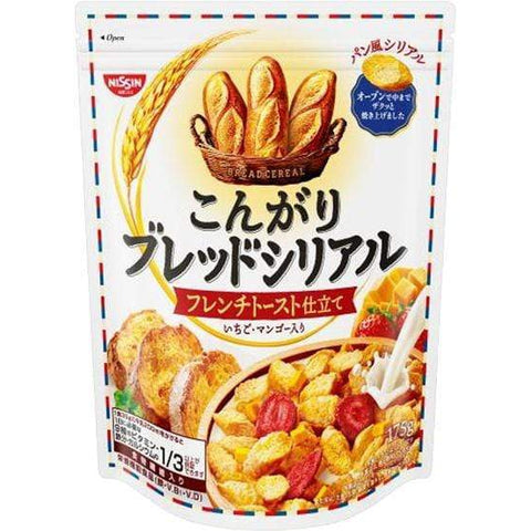 Image of NISSIN Kongari Bread Cereal French Toast 日清シスコこんがりブレッドシリアル フレンチトースト仕立て Matcha 1 Tokyo Direct