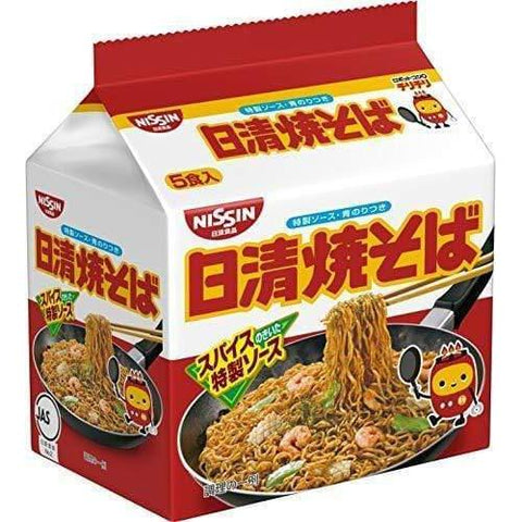 Nissin Yakisoba 5 servings 日清 焼そば Food Tokyo Direct
