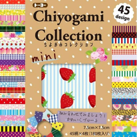Origami Chiyogami Collection 180 papers トーヨー 折り紙 ちよがみコレクション 7.5cm角 180枚入 Toy Tokyo Direct