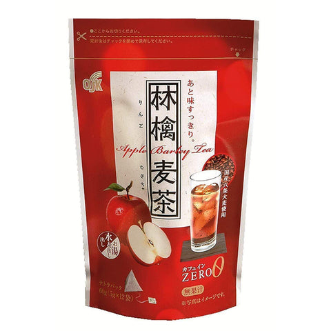 Image of OSK Apple Barley Tea 3 pieces OSK林檎麦茶テトラパック 3個 Food Tokyo Direct