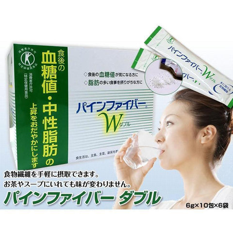 Image of Pinefibre W (60 sachets) パインファイバーW 6g*10包 Life Tokyo Direct