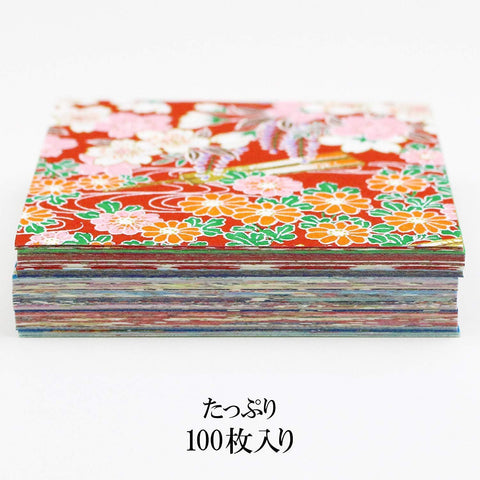 Image of Shunko-en Origami Yuzen Chiyogami 7.5cm 100 paper 春光園 折り紙 友禅手染千代紙 100枚入 Toy Tokyo Direct