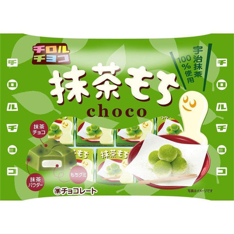 Image of Tyrol Choco Matcha Mochi 10 packages チロルチョコ 抹茶もち 7個×10袋 Matcha Tokyo Direct