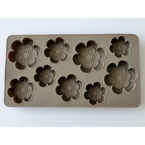 Image of Wagashi Silicone Mould Grey (Flower) Cotta グレーシリコン モールド(花びら 大小)86708 Tool Tokyo Direct