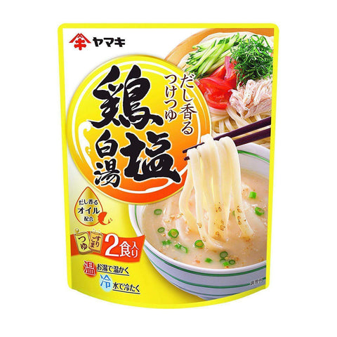 Image of Yamaki Chicken Both White Noodle Soup Base 4pcs ヤマキ だし香るつけつゆ 鶏塩白湯 4個 Food Tokyo Direct