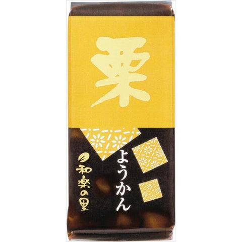 Image of Yoneya Mini Yokan (chestnuts) 10pcs 米屋 和楽の里ミニ羊羹栗 10本 Sweets Tokyo Direct