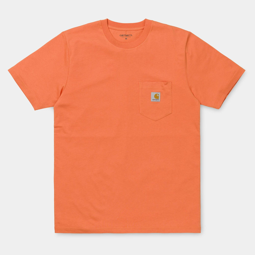 Carhartt WIP Short Sleeve Pocket T-Shirt in Jaffa