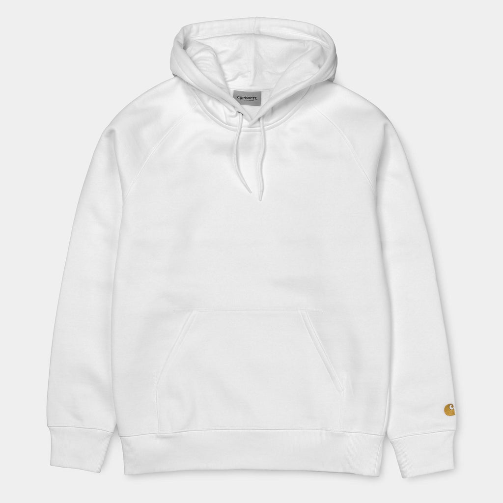 Carhartt WIP Hooded Chase Sweatshirt in White