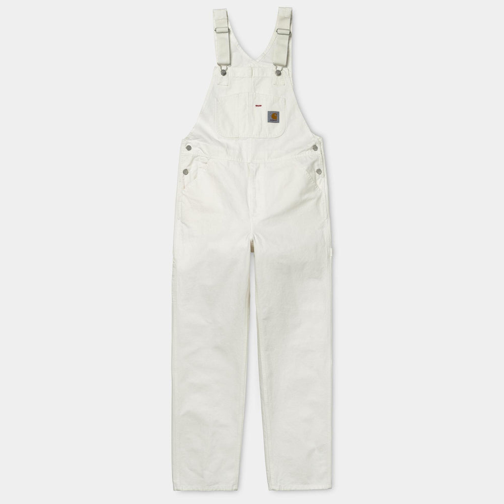 Carhartt WIP Bib Overall in Off White Cotton Drill