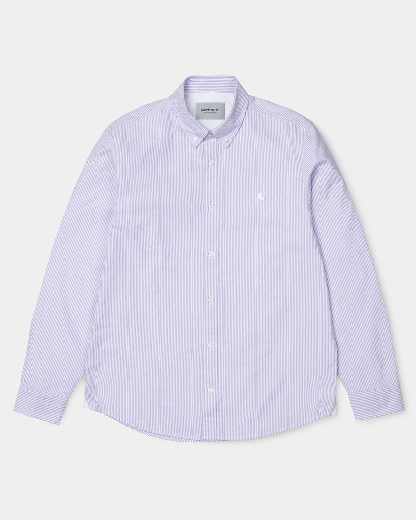d9dd1128ed93 Carhartt WIP Duffield Stripe Shirt | Soft Purple / White – Carhartt WIP USA