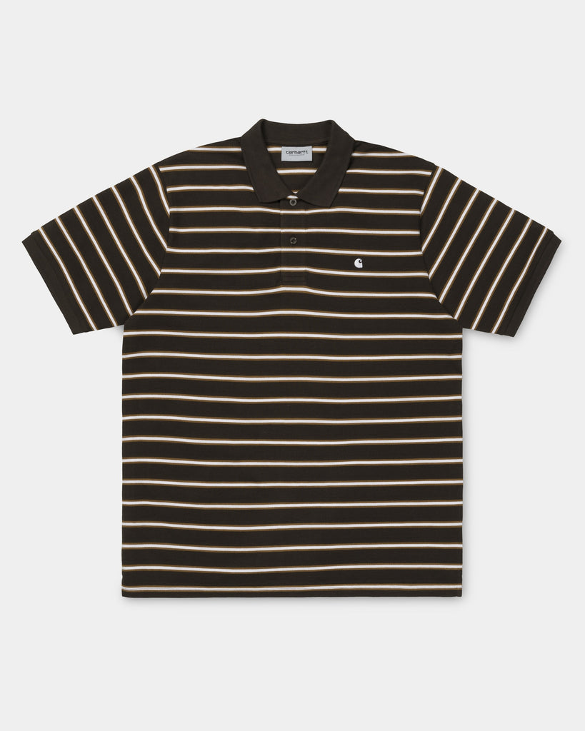 7d7a1009 Carhartt WIP Houston Stripe Polo Shirt | Tobacco | us.carhartt-wip.com –  Carhartt WIP USA