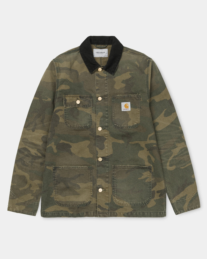 773c8a8406b0d Carhartt WIP Michigan Chore Coat (Spring) | Laurel Camo (aged canvas ...