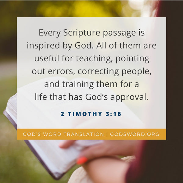 Verses We Love – a Comparison of 2 Timothy 3:16