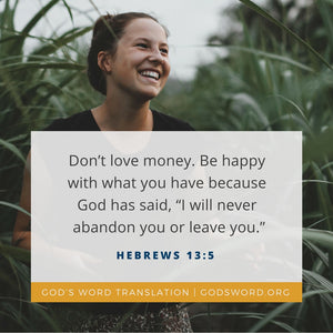 Verses We Love – a Comparison of Hebrews 13:5