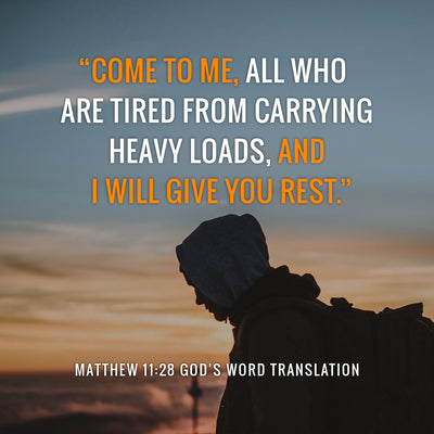 Compare Matthew 11:28 in Four Translations