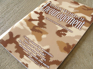 GOD'S WORD of Encouragement: Desert Camo Armed Forces Edition (Case of 100 Copies)