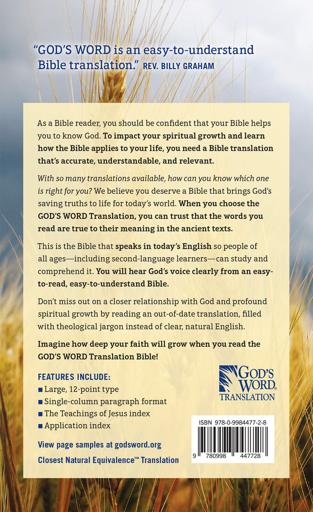 GOD'S WORD Large-Print Bible: Hardcover (Case of 12 Copies)