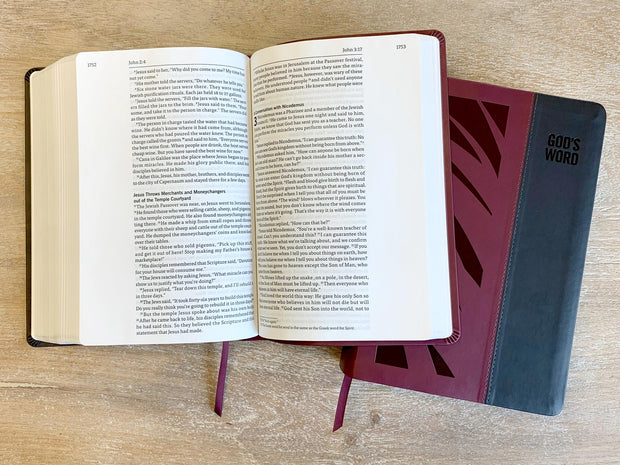 GOD'S WORD Wide-Margin Deluxe Bible Interior Spread and Cover