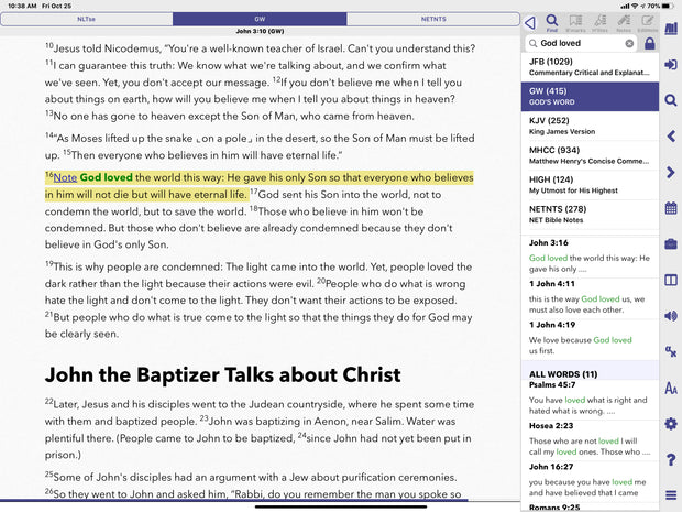 GOD'S WORD Translation PocketBible App Edition
