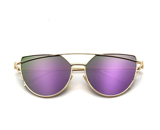 Cat Eye Mirror Finish Sunglasses
