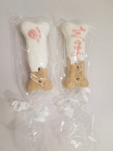 One Furry BFF biscuits - pink