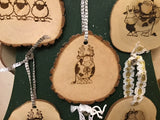 Locally made wood ornaments