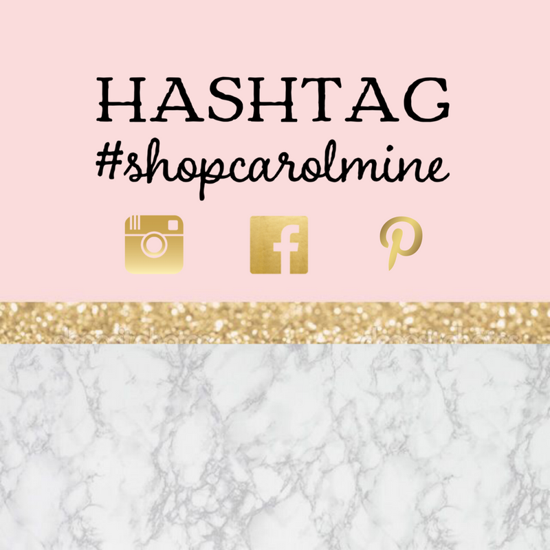 Hashtag #shopcarolmine