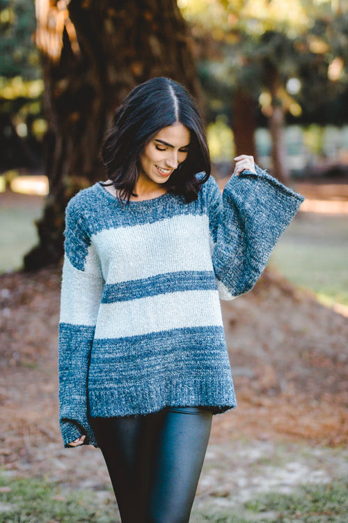 Striped cozy sweater