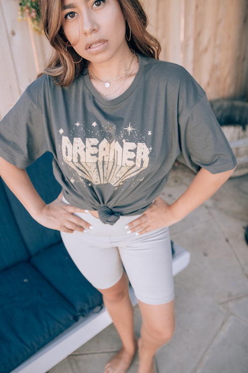 Charcoal Oversized Dreamer Tee