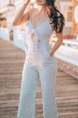Stripes In Malibu Ankle Length Jumpsuit